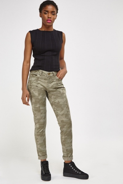 Camouflage Olive Jeans
