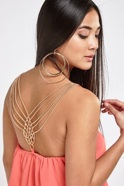 Chained Detailed Back Top