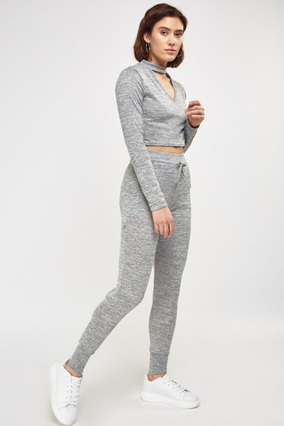 Crop Top And Jogger Pants Set