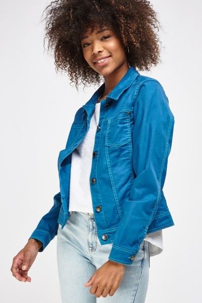 Denim Stitched Side Jacket