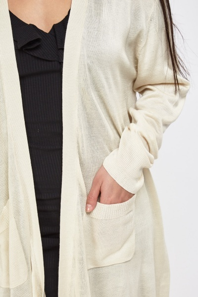 Long Line Thin Knitted Cardigan