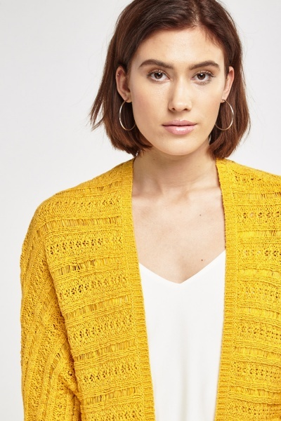 Loose Knit Open Front Casual Cardigan