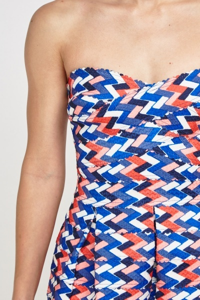 Printed Bandeau Dress