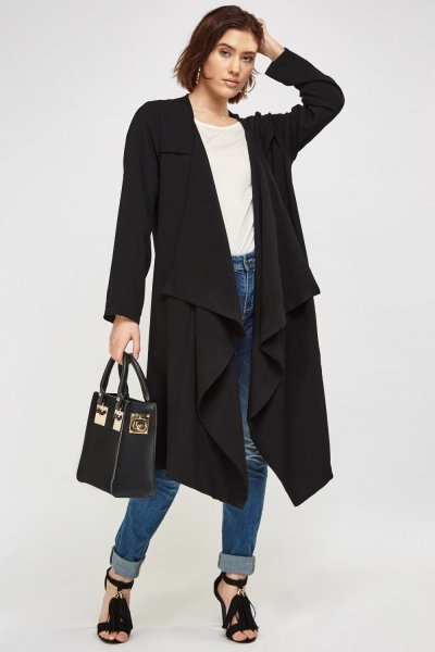Waterfall Line Duster Coat