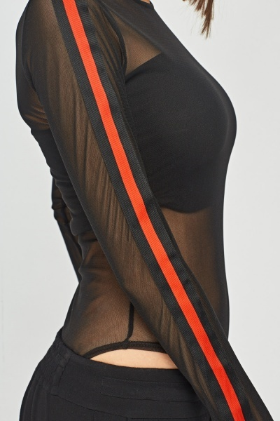 Open Mesh Bodysuit