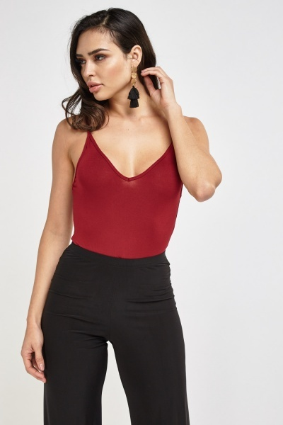 Basic Burgundy Bodysuit