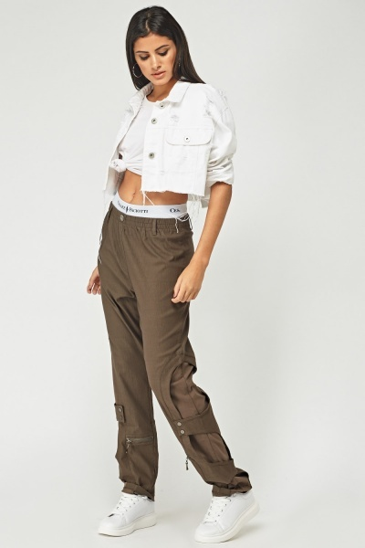 Soil Coloured Combat Trousers
