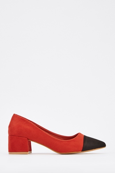 Suedette Court Pump Heels