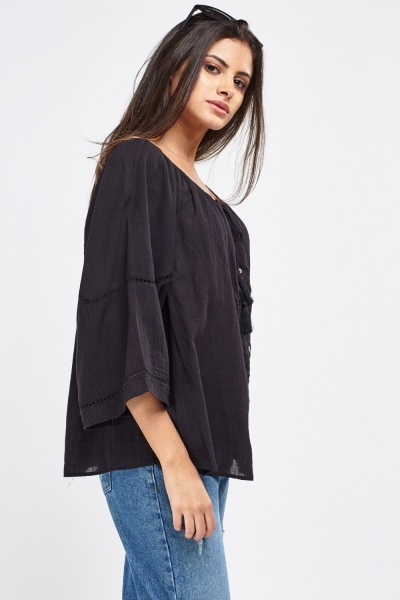 Black Oversized Blouse