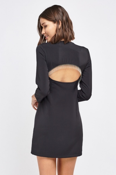 Detailed Cut Out Back Dress