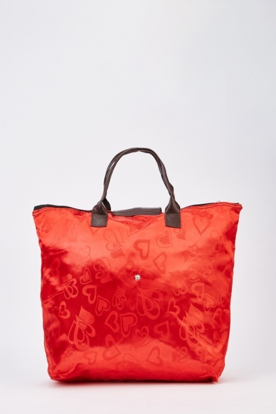 Foldable Red Shopper Bag