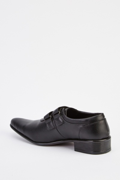 Mens Formal Faux Leather Black Shoes