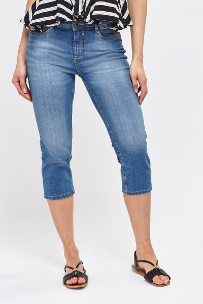 Skinny Fit Cropped Jeans