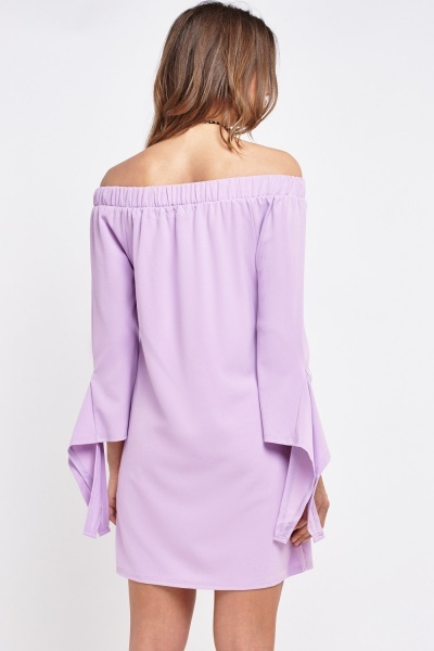Off Shoulder Shift Dress