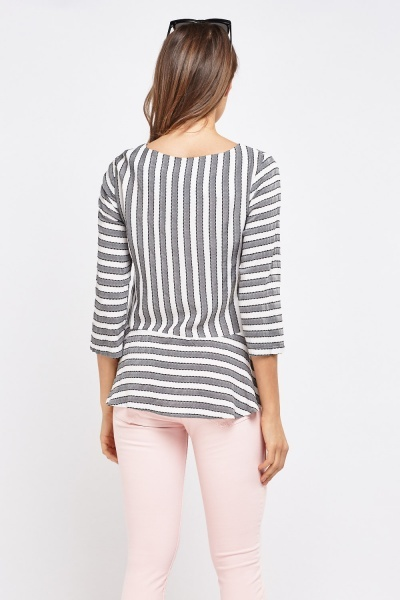 Peplum Pin Stripe Top