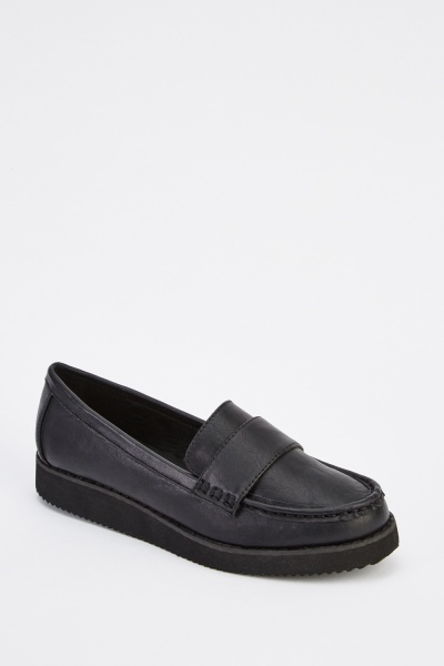 Faux Leather Classic Shoes