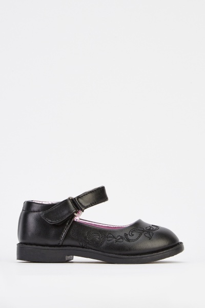 Faux Leather Girls Shoes
