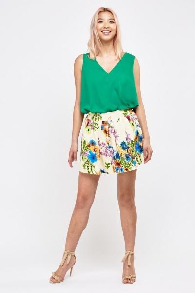 Floral Printed Rara Skirt