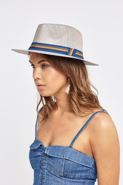 Contrast Trim Fedora Hat