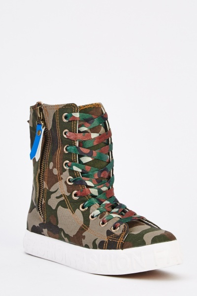 Camouflage High Top Trainers