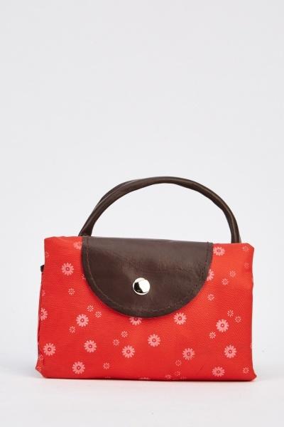 Flower Printed Foldable Shopper Bag