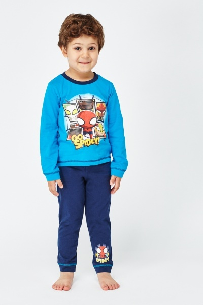 Go Spidey Top And Trousers Pyjama Set