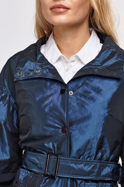 Balloon Sleeve Hi Shine Jacket