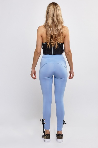 Tie Up Hem Sports Leggings