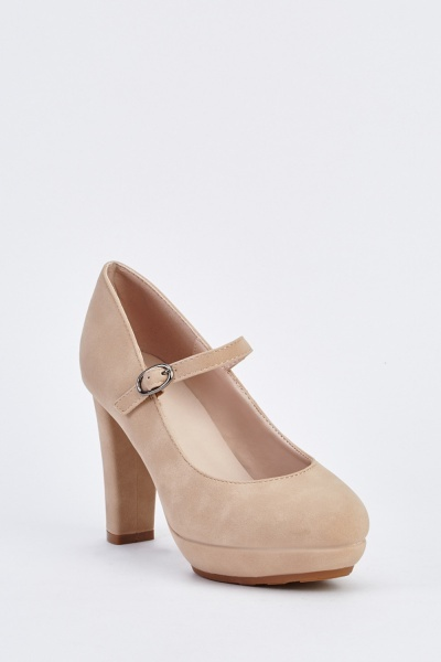 Block Heel Mary Jane Shoes