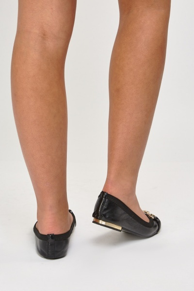 Detailed Front Ballet Pumps