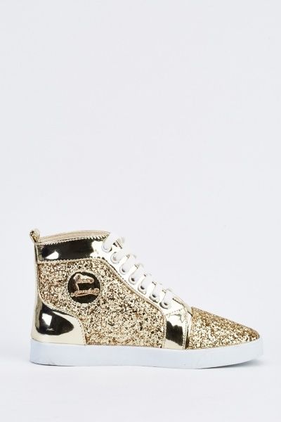 Glittered High Top Trainers