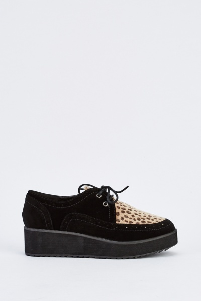 Leopard Print Creeper Shoes