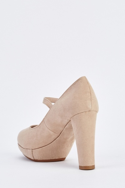 Mary Janes Suedette Heels