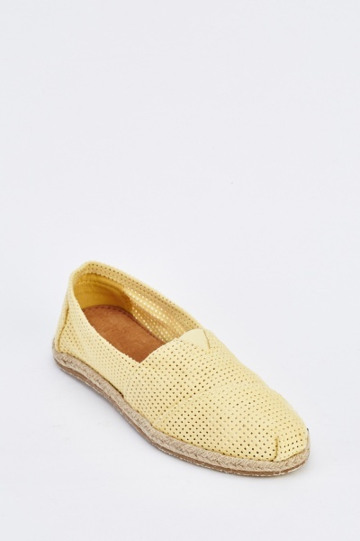 Perforated Slip-On Espadrilles