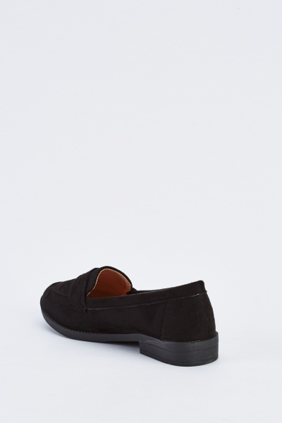 Suedette Loafer Shoes