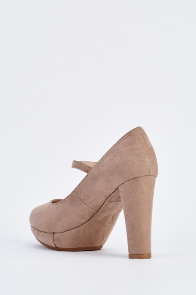 Suedette Mary Jane Pumps