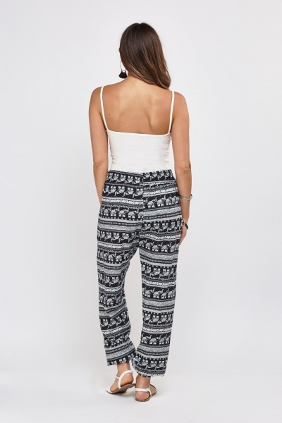 Ethnic Printed Casual Trousers