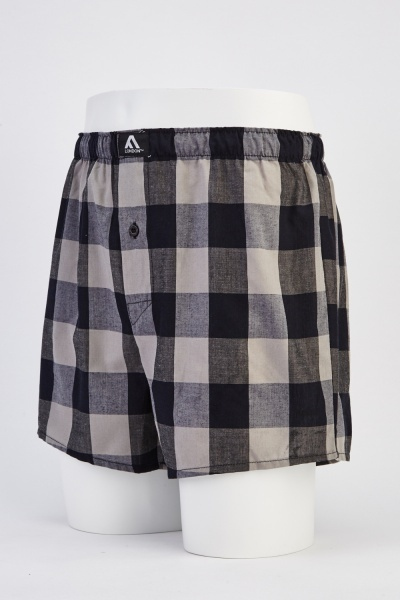 Mens 3 Pack Woven Boxers