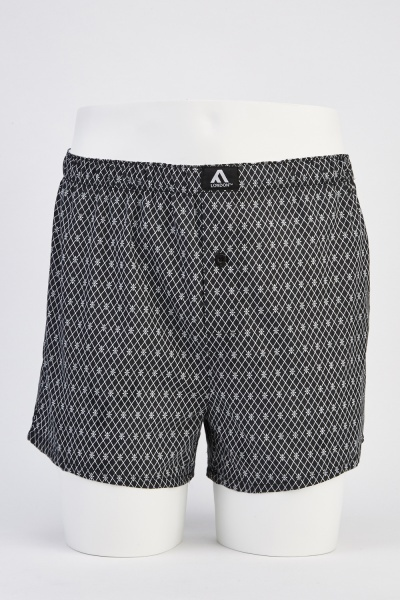 Mens Printed 3 Pack Woven Boxers
