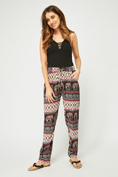 Ethnic Printed Casual Joggers