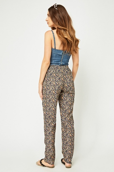 Floral Printed Casual Trousers