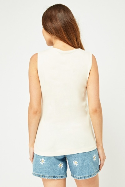 Pack Of 3 Square Neck Vest Tops