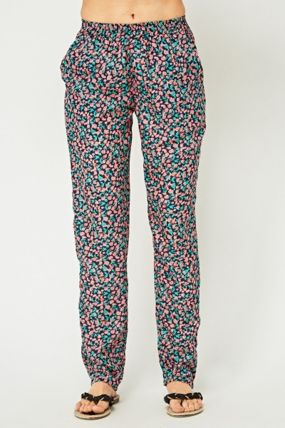 Printed Light Weight Trousers