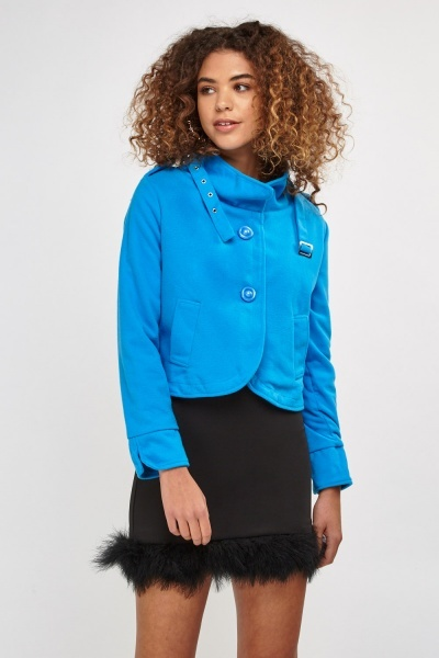 Stand Collar Fleece Jacket