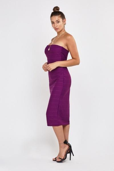 Bandeau Bandage Midi Dress