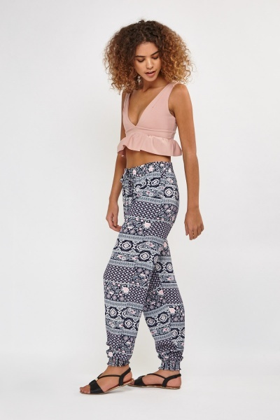 Moroccan Print Casual Trousers