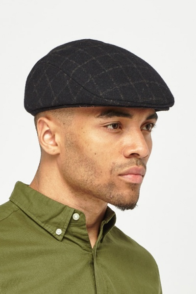 Checked Flat Cap