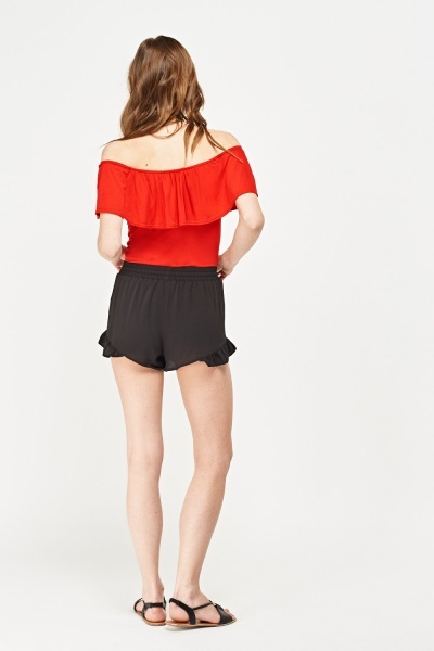 Frilly Hem Shorts