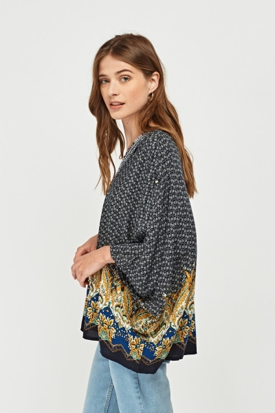 Mixed Printed Kaftan Top