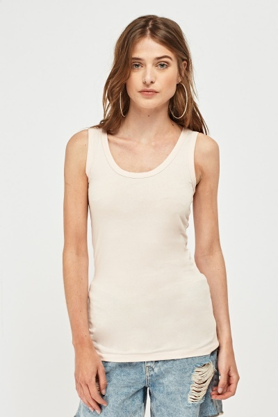Pack Of 3 Basic Scoop Neck Vest Tops